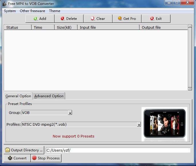 MP4 to VOB Converter image